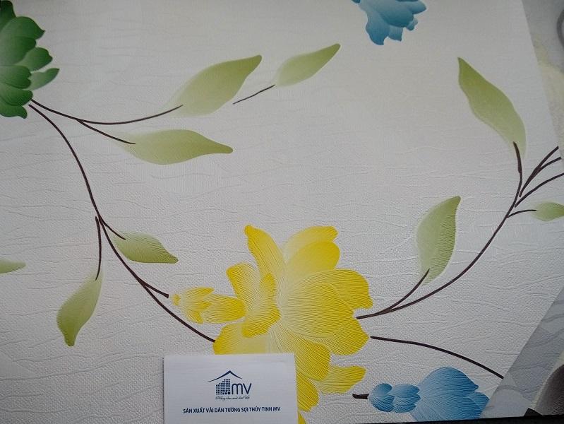 Vải dán tường phòng khách đẹp