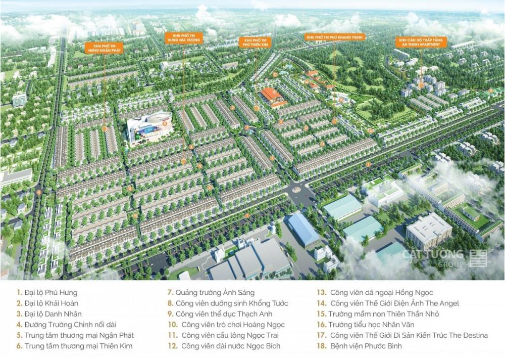 Khu đô thị phức hợp cảnh quan Cát tường phú hưng đầu tiên của thành phố Đồng xoài, Bình phước
