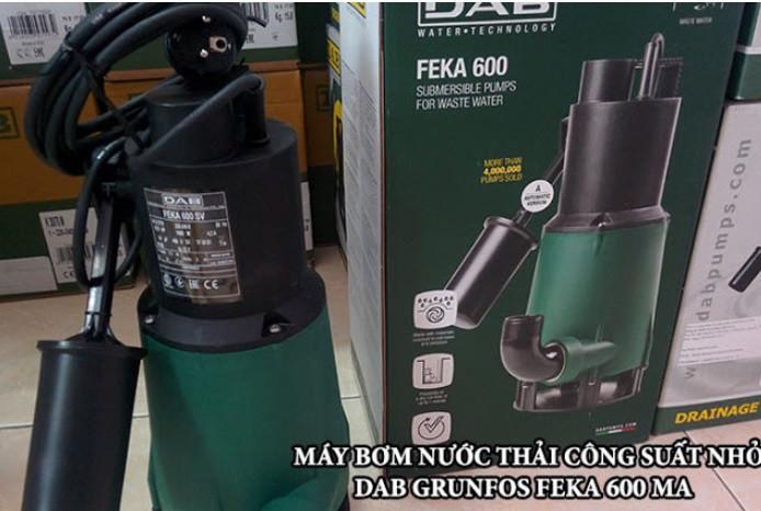 Máy bơm chìm thoát nước thải FEKA 600 MA đa năng cho công trình nhỏ