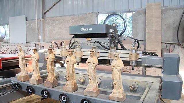 máy đục tượng gỗ