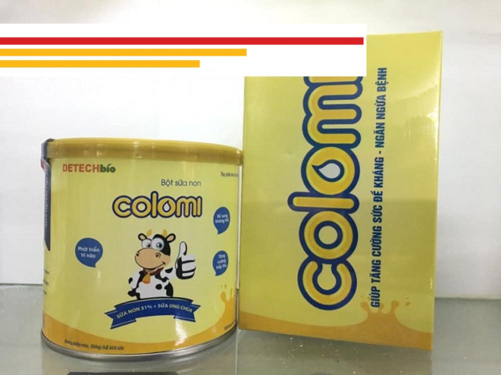 Sữa non Colomi đã có mẫu mã mới