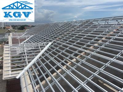 Hệ giàn thép mạ trọng lượng nhẹ cường độ cao không rỉ cho nhà mái ngói