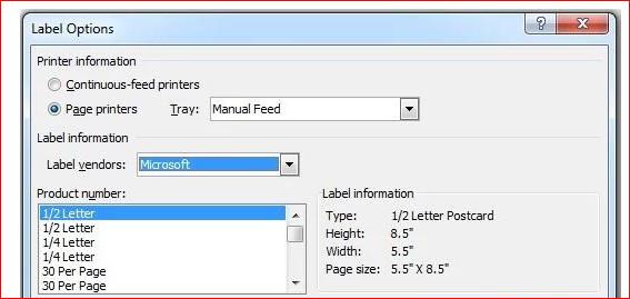 Cách in tem nhãn Decal Tomy A4 bằng Word, Excel(7)