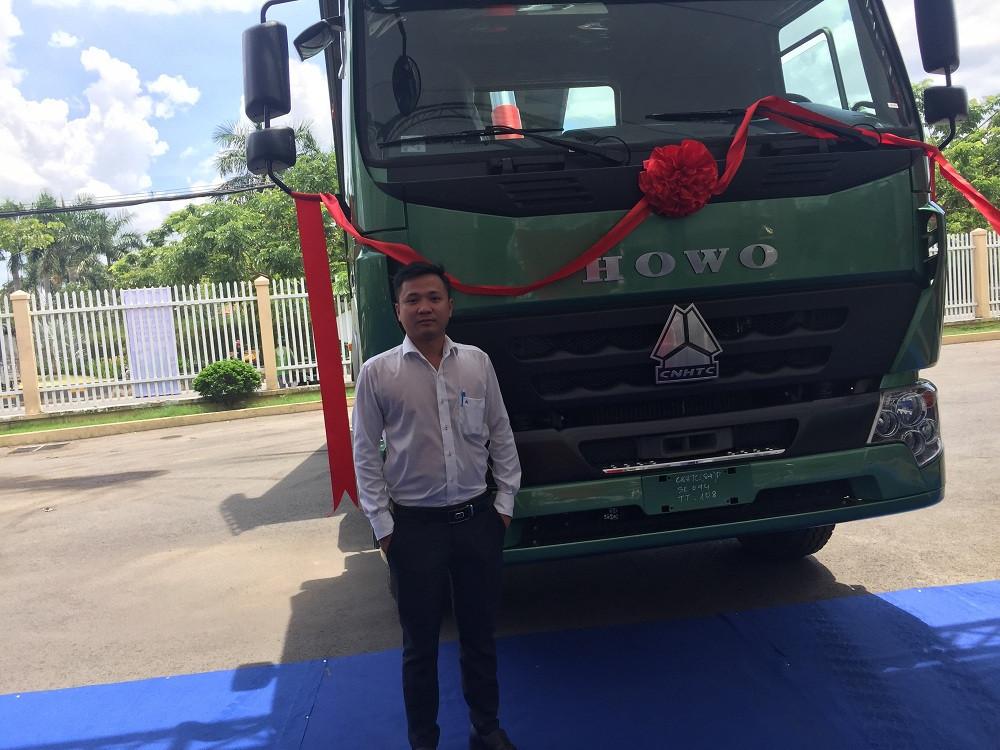 Sản phẩm mới: Xe Ben Howo 3 chân máy 380