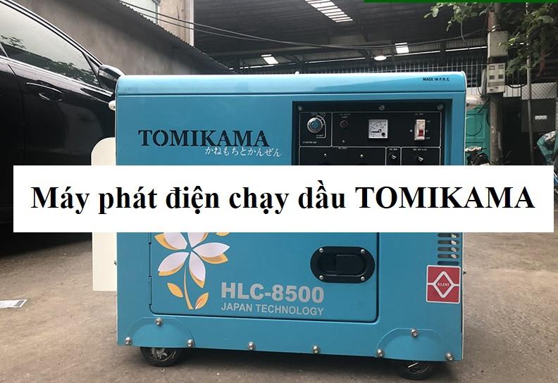 Máy phát điện chạy dầu tomikama sale sốc tại Dumiho