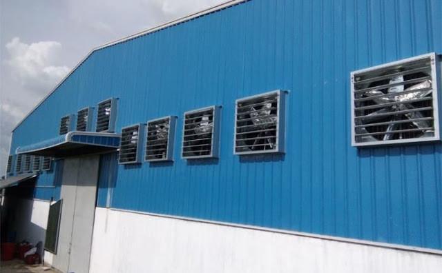Lý do quạt hút công nghiệp nên được dùng cho nhà xưởng?