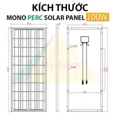 Mua tấm pin Solar LaLaHa 100W Mono PERC tại đâu?