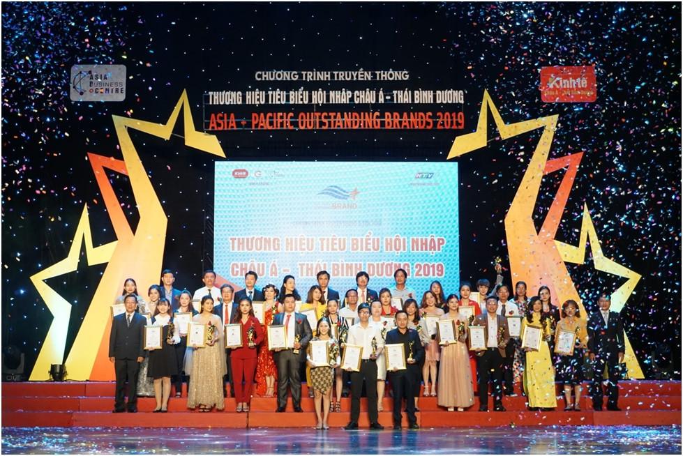 """Các doanh nghiệp, đơn vị đạt giải thưởng """"Thương hiệu tiêu biểu hội nhập Châu Á – Thái Bình Dương 2019"""""""