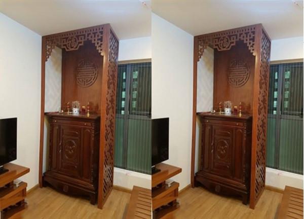 Làm đẹp từ vách ngăn CNC cho khu vực bàn thờ(2)