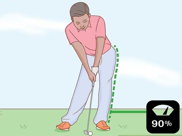 Dồn trọng lượng lên chân trái