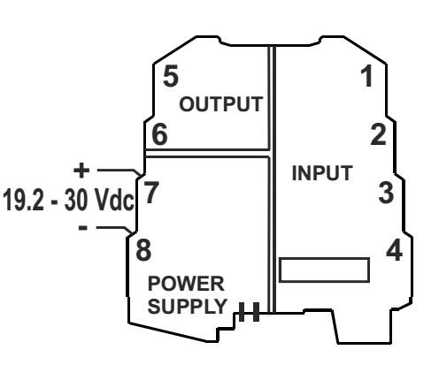 Nguồn cấp, tín hiệu ngõ vào và tín hiệu ngõ ra bộ chuyển đổi K109PT