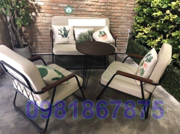 bàn ghế sofa cafe chân sắt