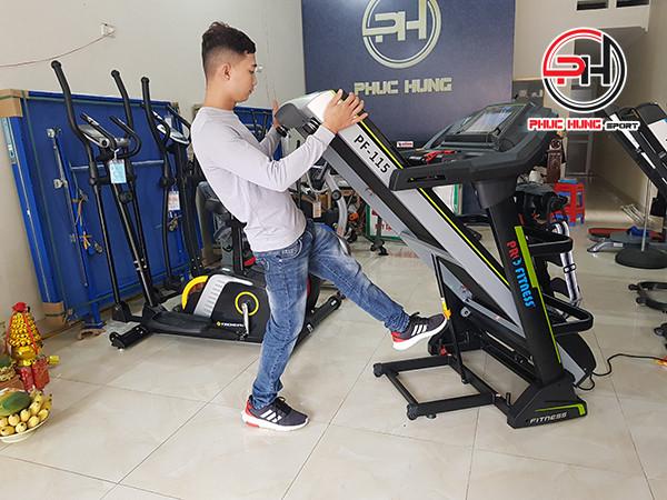 Máy chạy bộ điện Pro Fitness PF-115 thương hiệu công nghệ Mỹ