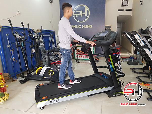 Máy chạy bộ điện Pro Fitness PF-115 thương hiệu công nghệ Mỹ(1)
