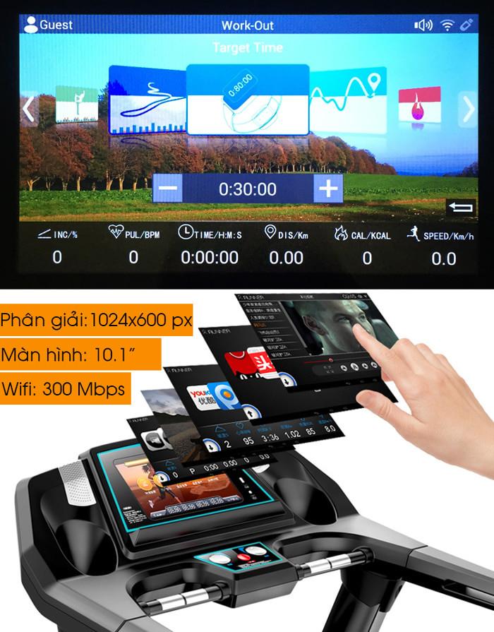 Hình ảnh chi tiết và tính năng máy chạy bộ điện Pro Fitness PF-115(1)
