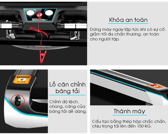 Hình ảnh chi tiết và tính năng máy chạy bộ điện Pro Fitness PF-115(2)