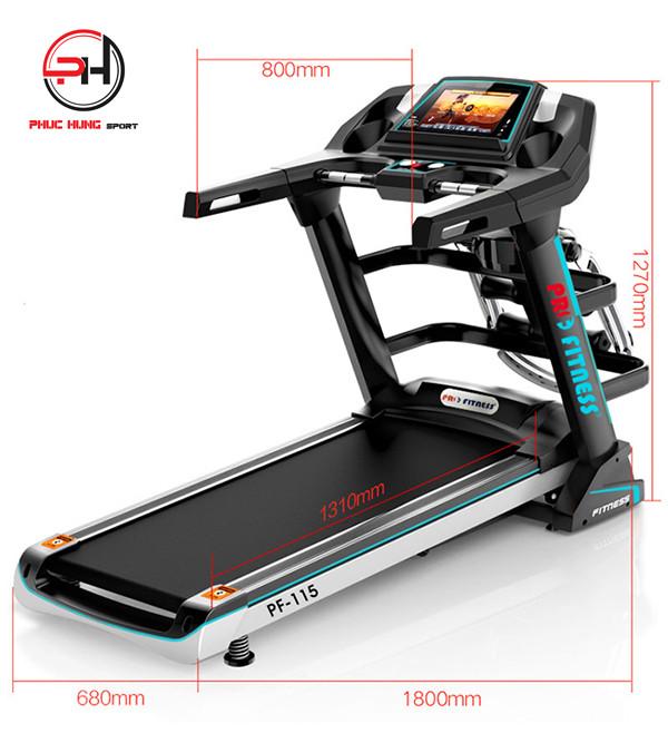 Hình ảnh chi tiết và tính năng máy chạy bộ điện Pro Fitness PF-115(5)