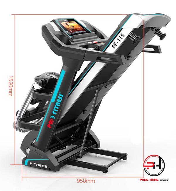 Hình ảnh chi tiết và tính năng máy chạy bộ điện Pro Fitness PF-115(6)
