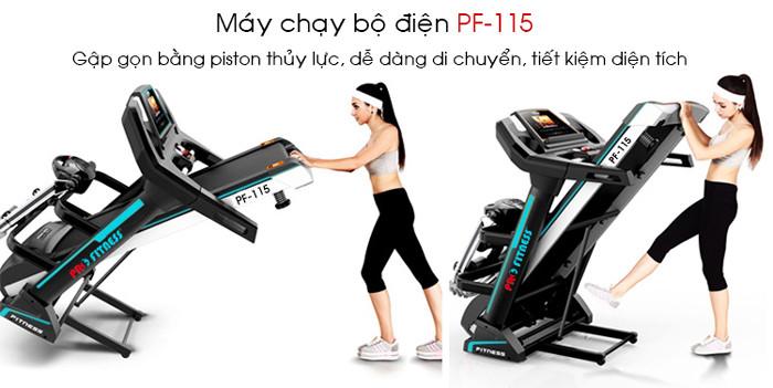 Hình ảnh chi tiết và tính năng máy chạy bộ điện Pro Fitness PF-115(9)
