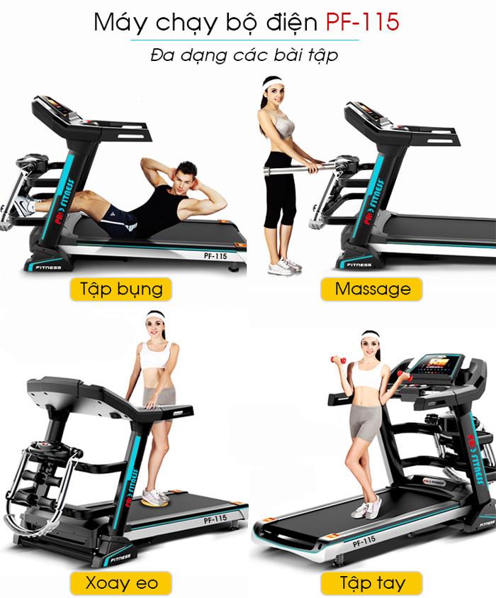 Hình ảnh chi tiết và tính năng máy chạy bộ điện Pro Fitness PF-115(11)