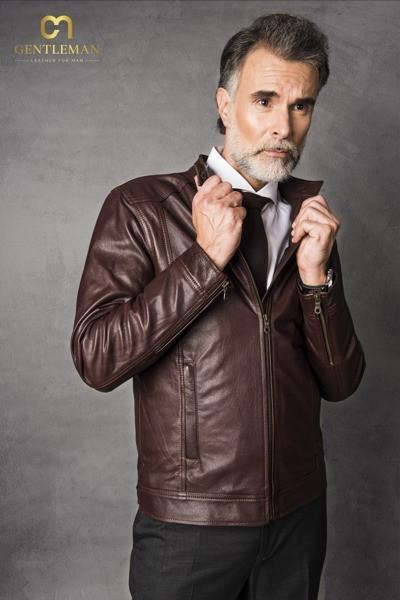 Áo khoác da dê dành cho quý ông có phong cách chững chạc
