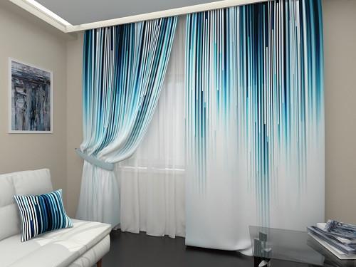 Tham khảo mẫu rèm treo cửa vải màu omber hiện đại