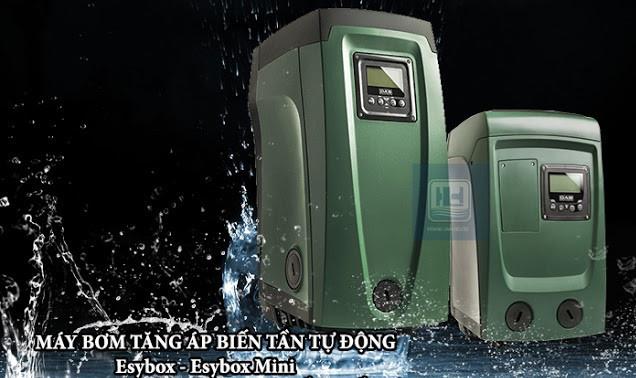 Máy bơm tăng áp biến tần hãng DAB có 2 phiên bản E.sybox 2.1 HP và E.sybox Mini 1.1 HP.
