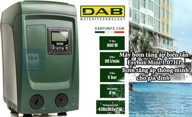 Máy bơm tăng áp biến tần Esybox Mini DAB cho hộ gia đình