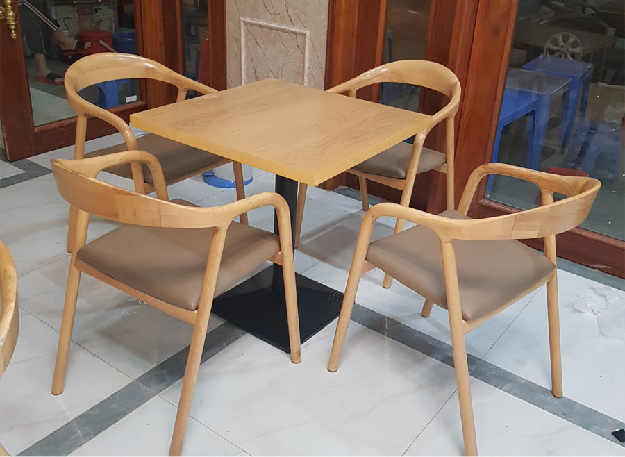 bàn ghế cafe gỗ 1
