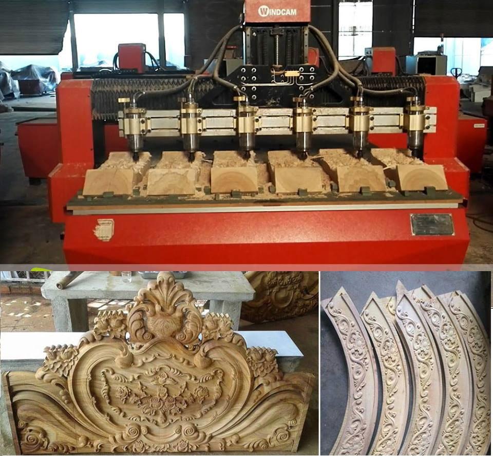 Máy điêu khắc gỗ 3d 6 đầu(1)
