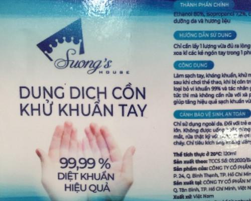 Nước rửa tay khô - Gel rửa tay khô diệt khuẩn 24h Suong's House mua 5 tặng 1