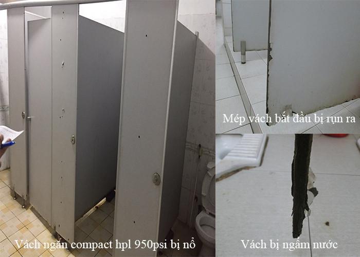 Biện pháp loại bỏ vách ngăn vệ sinh compact giả kém chất lượng