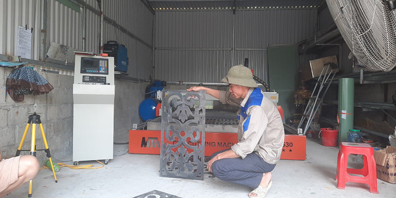 Lắp đặt máy cắt Plasma CNC Pro 1530 tại Quỳnh Phụ, Thái Bình