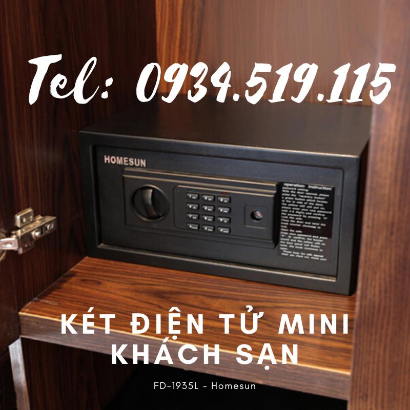 Bán két sắt mini cho khách sạn - Két điện tử Homesun
