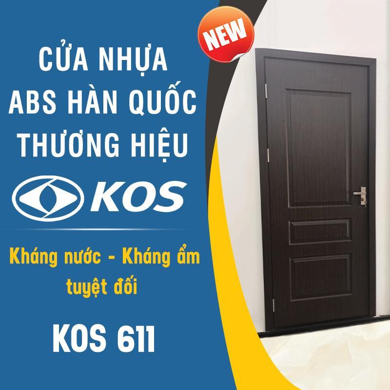 Cấu tạo cửa nhựa ABS Hàn Quốc chính hãng mang thương hiệu KOS