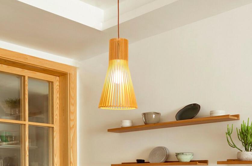 Top 10 mẫu đèn trang trí gỗ cho phòng ăn đẹp lung linh - Ảnh: 1