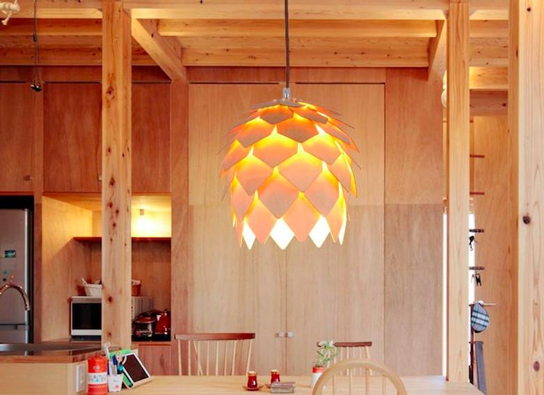Top 10 mẫu đèn trang trí gỗ cho phòng ăn đẹp lung linh - Ảnh: 2