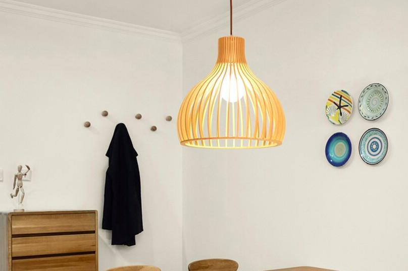 Top 10 mẫu đèn trang trí gỗ cho phòng ăn đẹp lung linh - Ảnh: 3