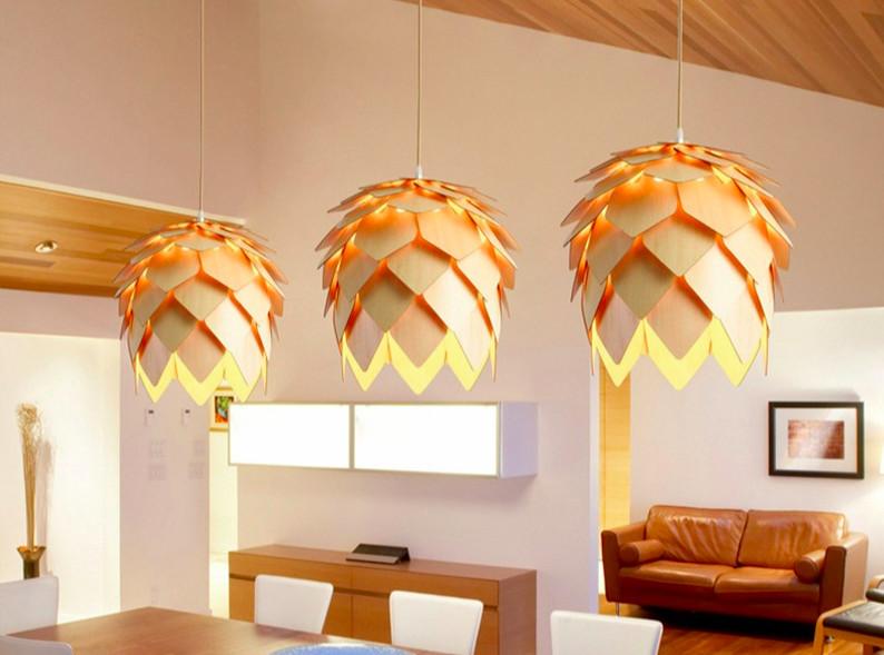 Top 10 mẫu đèn trang trí gỗ cho phòng ăn đẹp lung linh - Ảnh: 4