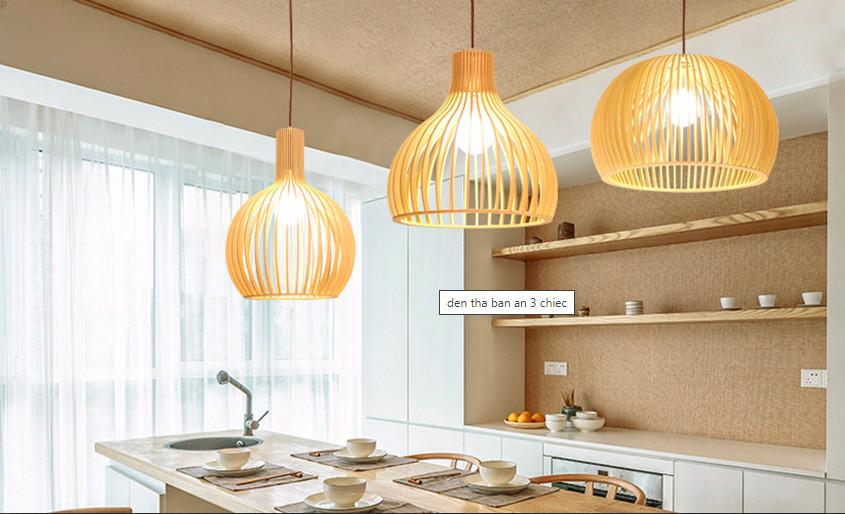 Top 10 mẫu đèn trang trí gỗ cho phòng ăn đẹp lung linh - Ảnh: 5