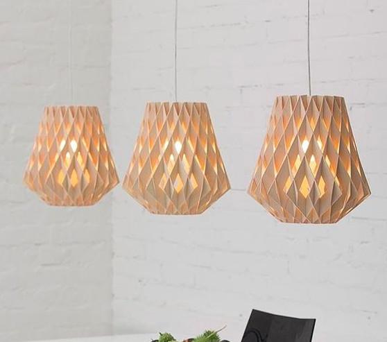 Top 10 mẫu đèn trang trí gỗ cho phòng ăn đẹp lung linh - Ảnh: 6