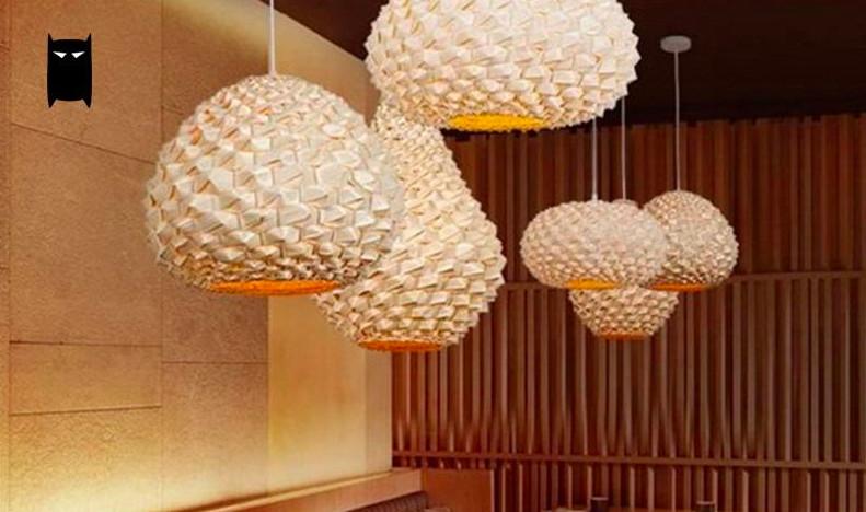 Top 10 mẫu đèn trang trí gỗ cho phòng ăn đẹp lung linh - Ảnh: 10