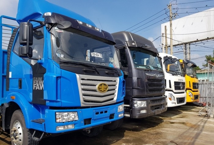 Nội thất, ngoại thất, quy cách đóng thùng xe tải Faw 7 tấn 8 (7t8)