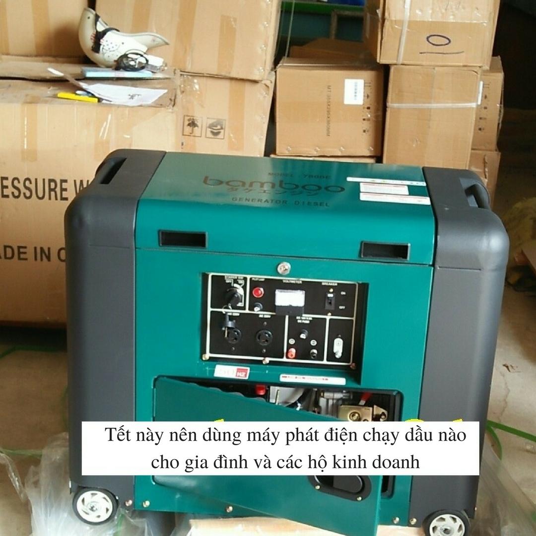 Tết này nên dùng máy phát điện chạy dầu nào cho gia đình và các hộ kinh doanh?