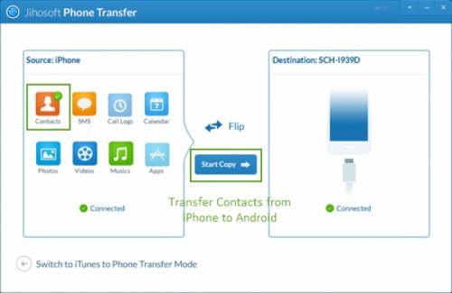 Hướng dẫn chuyển danh bạ từ iPhone sang Android bằng itunes