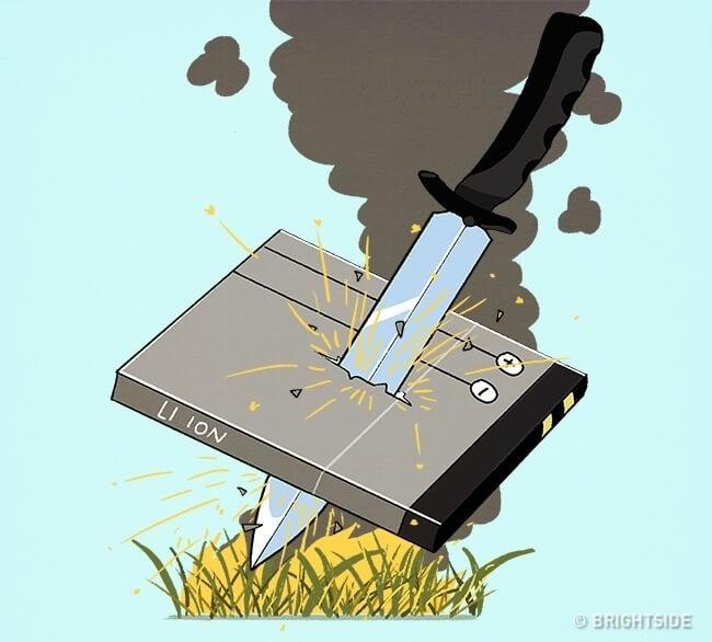 Cách tạo ra lửa từ pin điện thoại