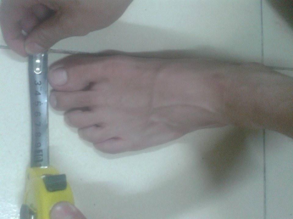 Đo chiều rộng bàn chân