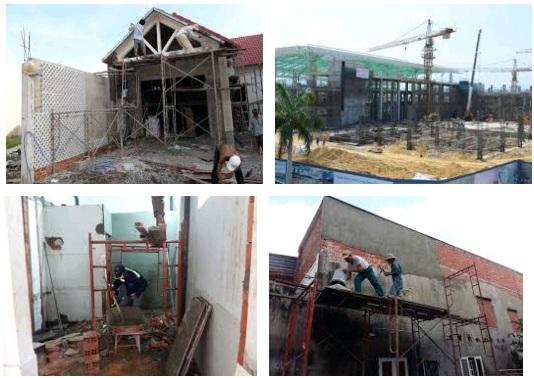 giai đoạn chuẩn bị thi công xây dựng nhà