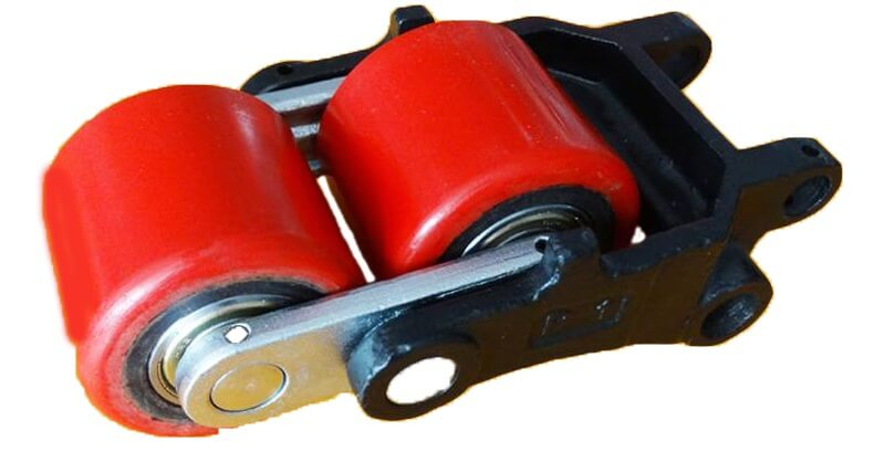 Bánh xe PU 80x70mm - Bánh đôi