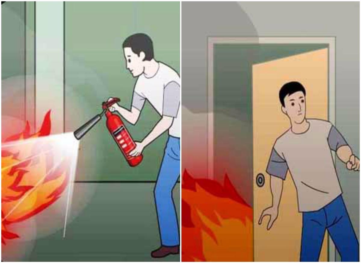 Giữ bình tĩnh để ứng phó khi xảy ra hỏa hoạn